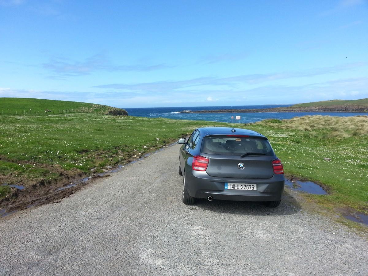 Mein Mietwagen an der Westküste nahe Sligo